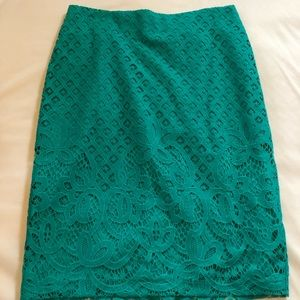 NWT Teal green LOFT pencil skirt